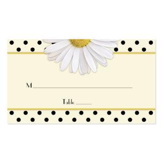 Lunares de la margarita que casan tarjetas del lug tarjeta de visita