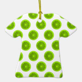 Lunares de la rebanada de la fruta cítrica de la adorno de cerámica en forma de camiseta