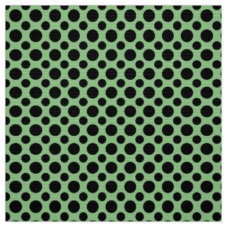 Lunares de la verde salvia y del negro tela