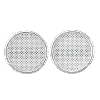 Lunares de plata de la pendiente gemelos