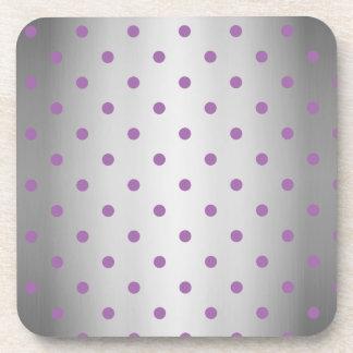lunares de plata púrpuras elegantes apoyavasos