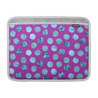 Lunares del hielo del invierno púrpuras funda para MacBook air
