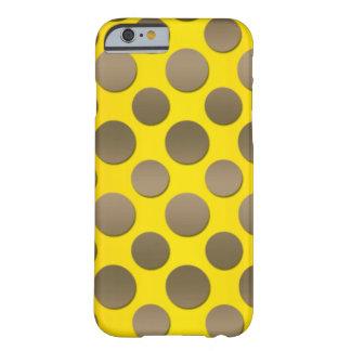 Lunares del oro en fondo del oro funda de iPhone 6 barely there
