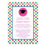 Lunares e invitación de la graduación del casquill