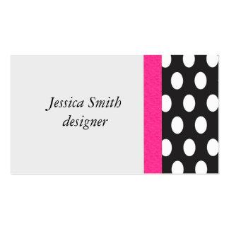 Lunares elegantes profesionales tarjetas de visita