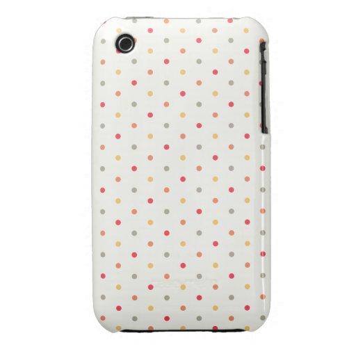 ¡Lunares en colores retros! Case-Mate iPhone 3 Protector