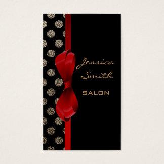 Lunares encantadores adorables del estampado tarjeta de negocios