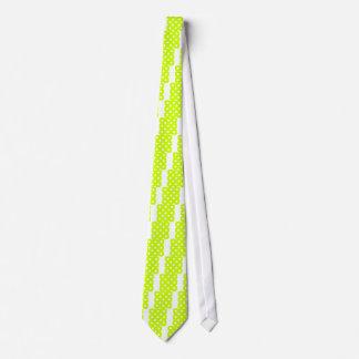 Lunares enormes - blanco en amarillo fluorescente corbata