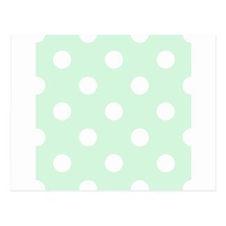 Lunares enormes - blanco en verde en colores postal