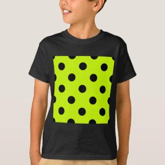 Lunares enormes - negro en amarillo fluorescente camisas