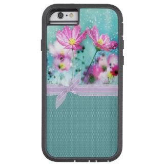 Lunares femeninos lindos, flores florecientes funda tough xtreme iPhone 6