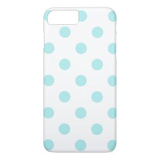 Lunares grandes - azul claro en blanco funda iPhone 7 plus