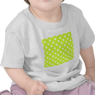 Lunares grandes - blanco en amarillo fluorescente camiseta