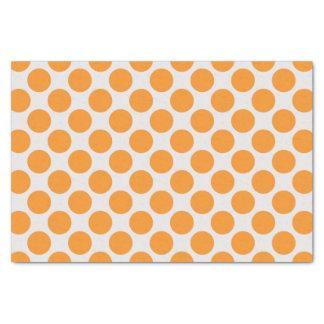 Lunares grandes brillantes modernos del naranja y papel de seda