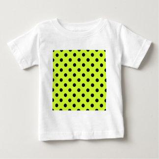Lunares grandes - negro en amarillo fluorescente camiseta