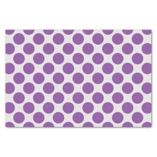 Lunares grandes púrpuras y blancos modernos papel de seda