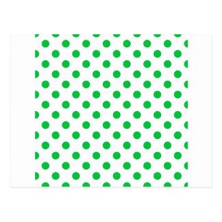 Lunares grandes - verde en colores pastel oscuro postal