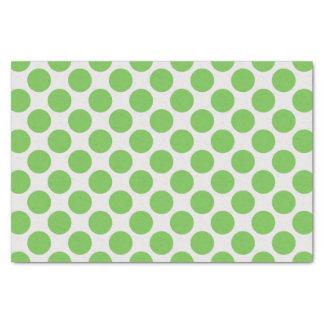 Lunares grandes verdes claros y blancos modernos papel de seda