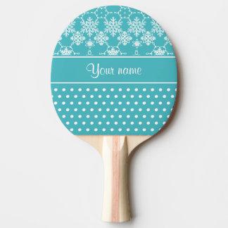 Lunares modernos de los copos de nieve pala de ping pong