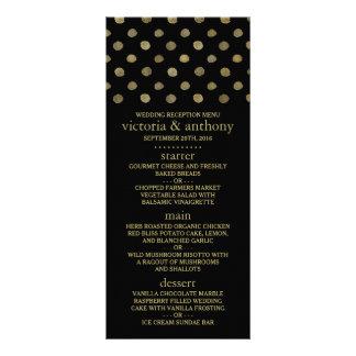 Lunares modernos del negro y del oro que casan el tarjeta publicitaria