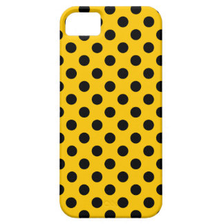 Lunares negros en amarillo funda para iPhone SE/5/5s