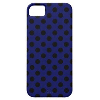 Lunares negros en azules marinos funda para iPhone SE/5/5s