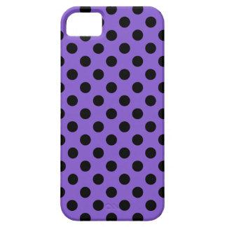 Lunares negros en la lavanda funda para iPhone SE/5/5s