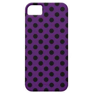 Lunares negros en púrpura del ciruelo funda para iPhone SE/5/5s