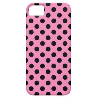 Lunares negros en rosa funda para iPhone SE/5/5s