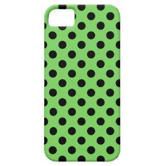 Lunares negros en verde lima funda para iPhone SE/5/5s