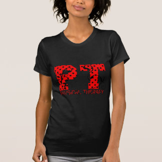 lunares negros rojos de la pinta camiseta