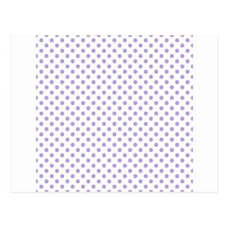 Lunares - púrpura en colores pastel ligera en postal