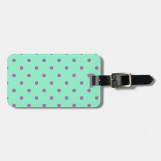 lunares púrpuras elegantes de la menta etiquetas para maletas