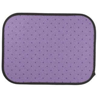 Lunares púrpuras minúsculos en las alfombrillas de alfombrilla de coche