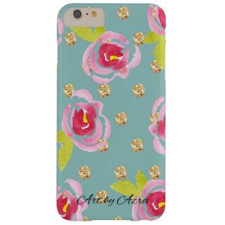 Lunares relucientes con la caja floral de la funda barely there iPhone 6 plus