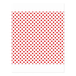 Lunares - rojo en blanco tarjetas postales