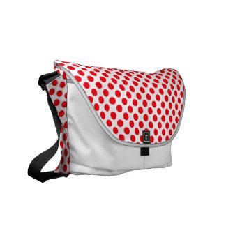 Lunares rojos blancos - la bolsa de mensajero bolsas messenger