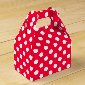 Lunares rojos cajas para regalos