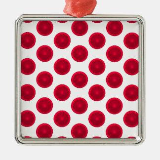 Lunares rojos de la fruta cítrica adorno de navidad