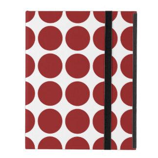 Lunares rojos en blanco iPad protector