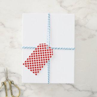 Lunares rojos etiquetas para regalos