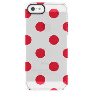 lunares rojos funda clearly™ deflector para iPhone 5 de uncommon