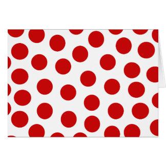 Lunares rojos grandes en fondo adaptable tarjeta de felicitación