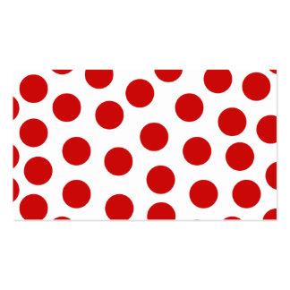 Lunares rojos grandes en fondo adaptable tarjetas de visita