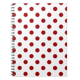 lunares rojos cuaderno