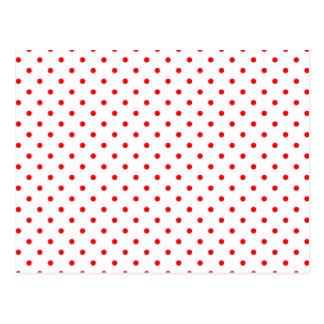 Lunares rojos minúsculos postal