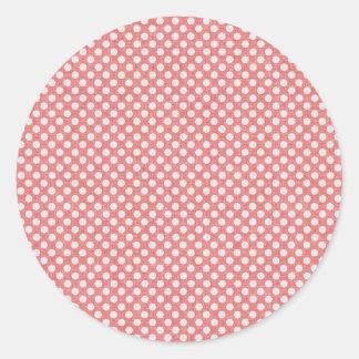 Lunares rojos pegatina redonda
