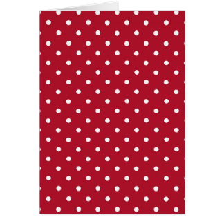Lunares rojos tarjeta de felicitación