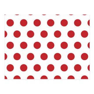Lunares rojos postal