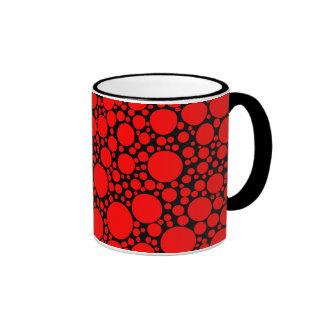 Lunares rojos taza a dos colores
